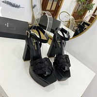 ysl women casual shoes boots fashionable casual leather women heels sandal shoes 66