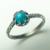 Turquoise Ring - December Birthstone Jewelry - Custom created in your size