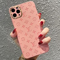 LV Louis Vuitton Retro 11 pro max iPHONE X/XR mobile phone case XS/Max pattern iPhone 8p mobile phone protective case