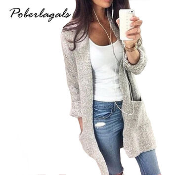Long Sleeve loose Knitted Cardigan Sweater Womens Boho Chic Clothing