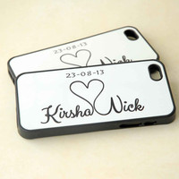 Personalized Phone Cases, Couples Matching Silicone Phone Cases, His and Hers, iPhone Case, Samsung Galaxy Case