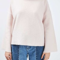 Boiled Wool Funnel Neck Jumper by Boutique - Boutique - Clothing