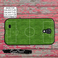 Soccer Field Futbol Pitch Messi Neymar Ronaldo Rooney Beckham Custom Galaxy S5 and S4 and S3 Case and Galaxy Note 2 and Note 3 Case