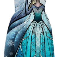 The Snow Queen Summer Dress created by mandiemanzano | Print All Over Me