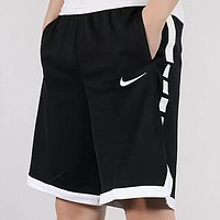 NIKE Summer New Fashion Hook Print Shorts Black