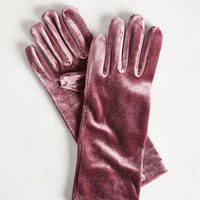 Vintage Inspired Class from the Past Gloves in Mauve by ModCloth
