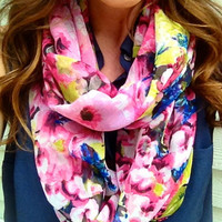 Pink Paradise Infinity Scarf