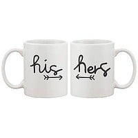 Arrow His And Hers Matching Couple Mugs - His and Hers Matching Coffee Cup
