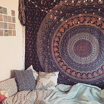 Bohemian Mandala Tapestry Wall Decor