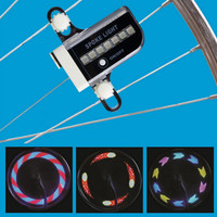 New Arrival Ultra Bright Gofuly 14 LED Motorcycle MTB Cycling Bicycle Bike Wheel Signal Tire Light 30 Changes Bike Accessories