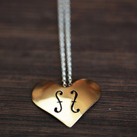 Violin F Hole Heart Necklace
