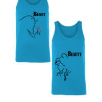 Beast And Beauty - Unisex Couple Tank Top