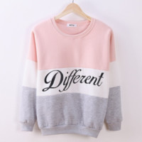 Winter women fleece hoodies printed letters Different women's casual sweatshirt hoody