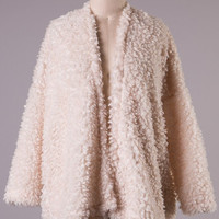 Cream Fuzzy Jacket (Small/Indie Brands)