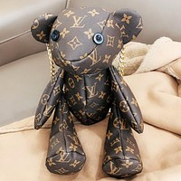 Bunchsun LV Louis Vuitton Fashion Women Men Leather Cute Bear Shoulder Bag Travel Bag Backpack