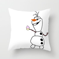 Olaf Cupcake Throw Pillow by hayimfabulous | Society6