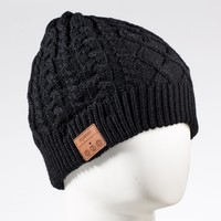 Tenergy Wireless Bluetooth Hands-Free Beanie Braid Cable Knit, Color Black