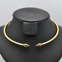 Gold & Silver Choker Torques Necklace For Women