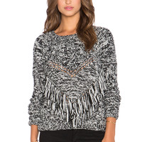 Dress Gallery Torsade Sweater in Noir Et Blanc Chine