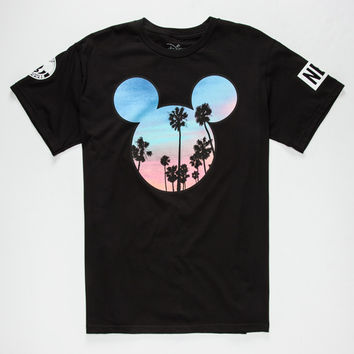 Neff Disney Collection Palms Mickey Prime Mens T-Shirt Black  In Sizes