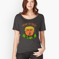 'Trump or treat ' Women's Relaxed Fit T-Shirt by ValentinaHramov