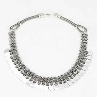Layered Coins Necklace- Silver One