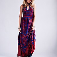 Free People Womens Hedgehaze Maxi Dress - Indigo