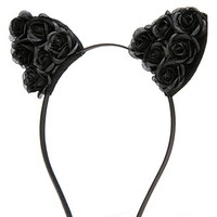 Floral Cat Ears Headband