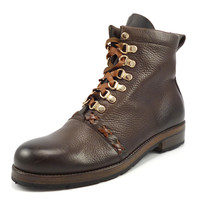 Ralph Lauren Mens Shoes 7 Purple Label Leather Lace Up Boots Brown Pre-owned