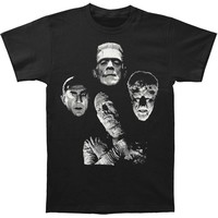 Universal Monsters Men's  Horror Band T-shirt Black
