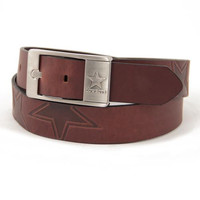 Dallas Cowboys NFL Men's Embossed Leather Belt (Size 36)
