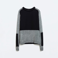 Sweater with sleeve detail