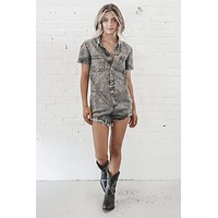 Rodeo Runway Denim Romper