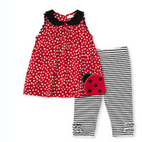 Ladybug Sleeveless Swing Top with Capri Legging