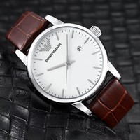HCXX A0002 Armani Emporio Fashion Waterproof Watches White Maroon
