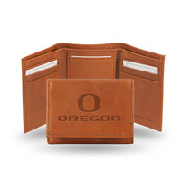Oregon Ducks  Tri-Fold Wallet (Pecan Cowhide)