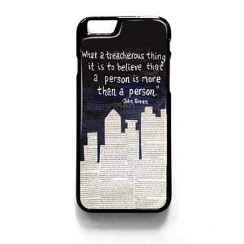 John Green Paper Towns Quotes Cover for iPhone 4 4S 5 5S 5C 6 6 Plus , iPod Touch 4 5  , Samsung Galaxy S3 S4 S5 Note 3 Note 4 , and HTC One X M7 M8 Case Cover
