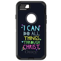 DistinctInk™ OtterBox Defender Series Case for Apple iPhone / Samsung Galaxy / Google Pixel - I Can Do All Things Through Christ
