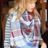 Falling Leaves Blanket Scarf Rust