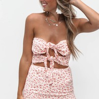 So Special Floral Coral Mini Dress