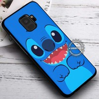 Cute Blue Monster Stitch iPhone X 8 7 Plus 6s Cases Samsung Galaxy S9 S8 Plus S7 edge NOTE 8 Covers #SamsungS9 #iphoneX