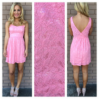 Pink Lace Pretty in Pink Dress