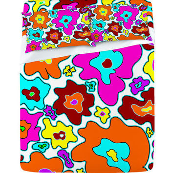 DENY Designs Home Accessories | Madart Inc. Poppy Style Multi Color Sheet Set