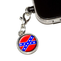 Confederate Rebel Flag Mobile Phone Charm