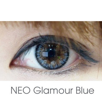 FREE SHIP ☆ NEO Glamour Blue Circle Lens Color Contacts from EyeCandy's - Color Circle Lens