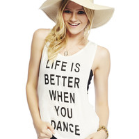 Life Is Better Tank   Wet Seal