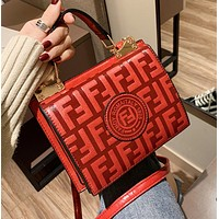Fashion New More Letter Leather Shopping Leisure Shoulder Bag Women Red