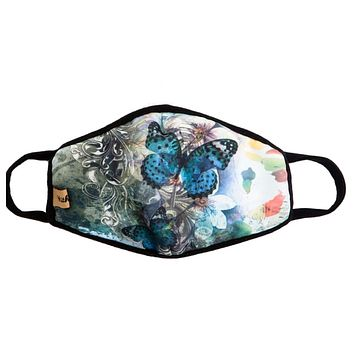Keeping it in Style! Blue Butterfly Face Masks - Covid 19
