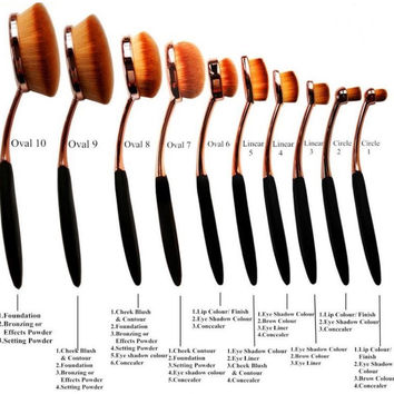 Paddle Style Make up Brush Set