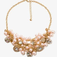 Pearlescent Bead Cluster Necklace | FOREVER 21 - 1044837922
